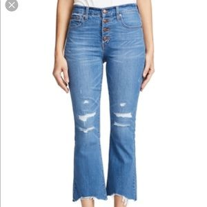 Madewell Cali Demi boot cut crop jean
